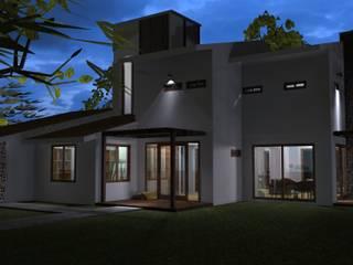 Hacienda de Santa Catarina: Casas de estilo rústico por Grupo de Arquitectura y Urbanismo