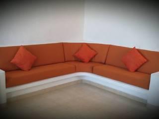Departamento Ñ-05: Salas de estilo  por Maref Arquitectos, Tropical