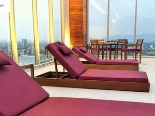 EASYDEKOR Textiles de alto rendimiento Modern Houses Purple/Violet