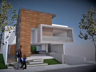 CASA AMZ / FACHADA PRINCIPAL: Casas de estilo minimalista por AD+d