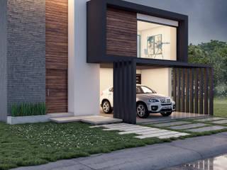 Vista exterior: Casas de estilo moderno por D+STUDIO ARQUITECTURA*INTERIOR