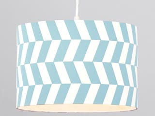 Geometric Drum Easy to Fit From Litecraft Litecraft Living roomLighting Blue