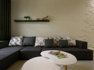 <低預算>舊屋翻新-小家庭的夢想家 根據 品茉空間設計(夏川設計) 地中海風