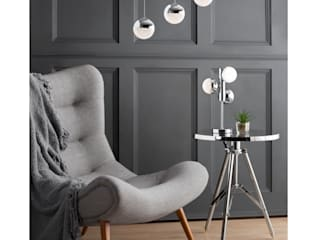 Corona 3 Light Ceiling Bar Pendant Chrome Litecraft Living roomLighting Metallic/Silver