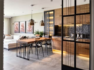 GUNDOGAN SUMMER HOUSE Esra Kazmirci Mimarlik Modern Kitchen Grey