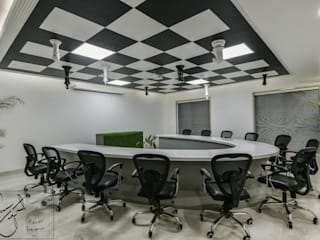 Office Project, Bilaspur Modern study/office by ESHA GARG : Interior Designer Modern