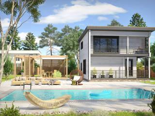 Растущий дом Cicilia Дома в стиле минимализм от Amber Haus Минимализм