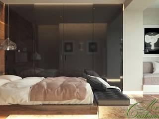 Chambre moderne par Компания архитекторов Латышевых 'Мечты сбываются' Moderne