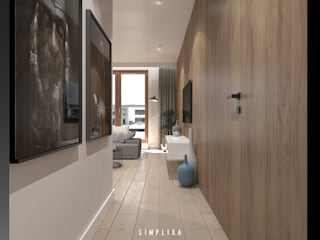 Modern Corridor, Hallway and Staircase by SIMPLIKA Modern