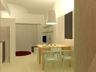 Proyecto ambientación de monoambiente Livings modernos: Ideas, imágenes y decoración de Valeria Pires Interiorismo Moderno