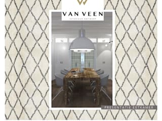 Presentatie eetkamer:   door VAN VEEN Interior Design