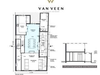Plattegrond:   door VAN VEEN Interior Design
