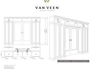 DETAIL ENSUITE KAST:   door VAN VEEN Interior Design