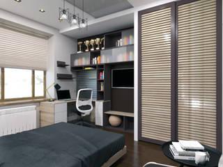 Спальня для молодого человека Спальня в стиле минимализм от Myroslav Levsky Минимализм