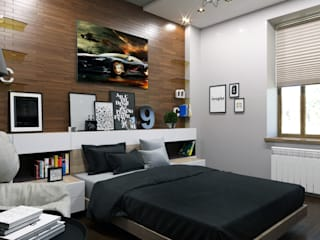 Спальня для молодого человека: Спальни в . Автор – Myroslav Levsky
