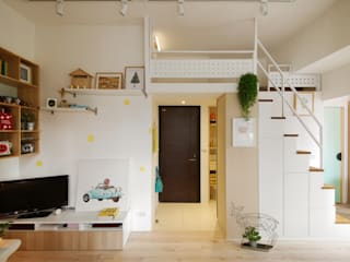 Scandinavian corridor, hallway & stairs by 一葉藍朵設計家飾所 A Lentil Design Scandinavian