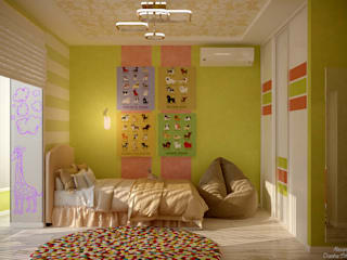Quartos de criança minimalistas por Студия интерьерного дизайна happy.design Minimalista