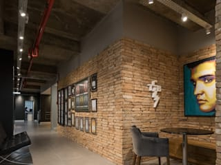 Superstudiob Industrial style commercial spaces Bricks Red