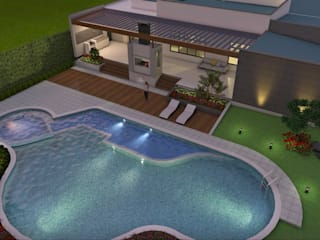 Casas de estilo moderno de Arquitecto Pablo Restrepo Moderno