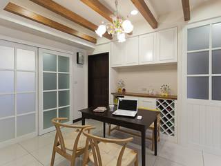 classcial elegance 弘悅國際室內裝修有限公司 餐廳 木頭 Wood effect