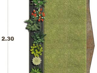 VISTA EN PLANTA DISEÑO MAUSOLEO :  de estilo  por 3HOUS