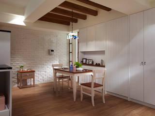 弘悅國際室內裝修有限公司 Country style dining room Wood Wood effect