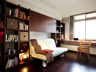 Dormitorios de estilo asiático de 弘悅國際室內裝修有限公司 Asiático