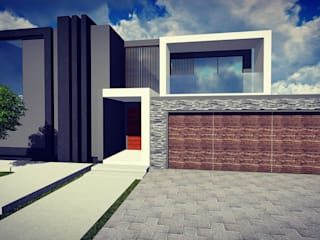 Casas modernas de BlackStructure Moderno