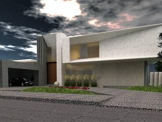 Vista Frontal : Casas de estilo moderno por CASTELLINO ARQUITECTOS (+)