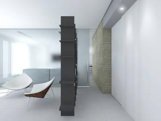 Pasillos, vestíbulos y escaleras de estilo moderno de SOA Spazio Oltre l'Architettura Moderno