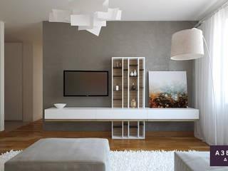 Квартира «Бирюзовый SMEG»: Гостиная в . Автор – Студия дизайна 'Азбука Дом'