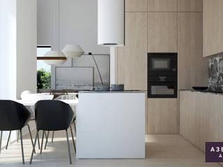 Частный дом «Осинка»: Кухни в . Автор – Студия дизайна 'Азбука Дом'