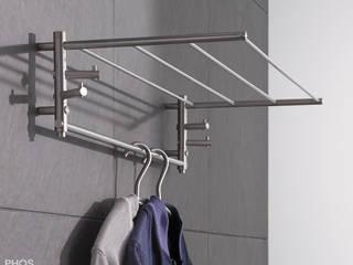 Wandgarderoben Edelstahl Design von PHOS Design GmbH Minimalistisch