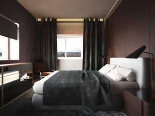 Interiorismo Piso Diagonal Mar Dormitorios de estilo moderno de Toolboxstudio Moderno