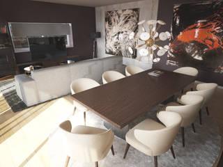 Interiorismo Piso Diagonal Mar: Salones de estilo  de Toolboxstudio