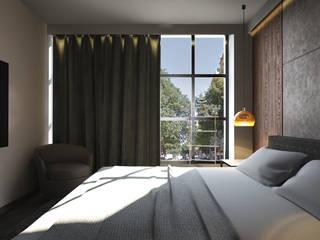 Interiorismo Piso en Eixample Dormitorios de estilo moderno de Toolboxstudio Moderno