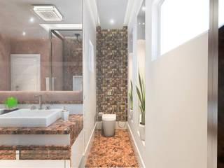 BANHEIRO MASTER: Banheiros  por Lucas Garcia Bonini - Designer de Interiores
