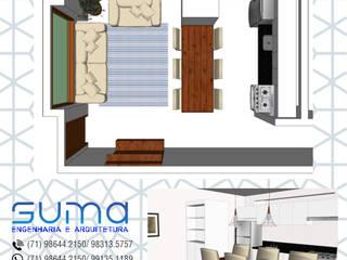 Consultoria em interiores: Salas de jantar  por Suma Engenharia e Arquitetura,Moderno