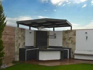 Area de Asador... Jardines modernos de Daniel Teyechea, Arquitectura & Construccion Moderno