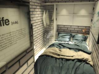 Casa 16 Dormitorios minimalistas de BAUGËN STUDIO Minimalista