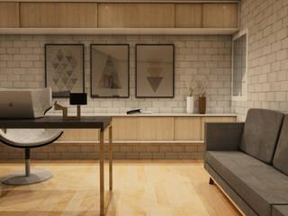 Casa IH Estudios y despachos minimalistas de BAUGËN STUDIO Minimalista