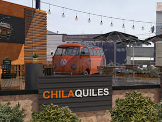 Chill & Combi - Pericoapa: Restaurantes de estilo  por BAUGËN STUDIO