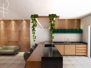 Showroom para Marcenaria: Espaços comerciais  por Gabriela A Arévalo - Arquitetura Urbanismo e Interiores,Moderno