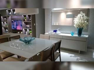 Apt. Manaíra - João Pessoa - PB Salas de jantar modernas por LVM Arquitetura Moderno