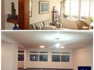Apt. Higienópolis - São Paulo - SP Salas de estar modernas por LVM Arquitetura Moderno