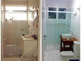 Apt. Higienópolis - São Paulo - SP Banheiros modernos por LVM Arquitetura Moderno