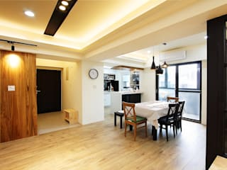 Scandinavian style dining room by 澤田工程/留名堂室內設計 Scandinavian