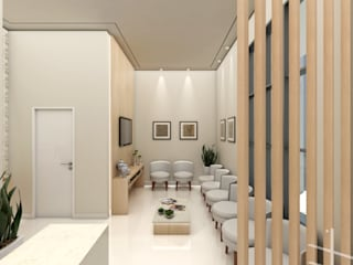 Clinica de Odontologia : Clínicas  por Gabriela A Arévalo - Arquitetura Urbanismo e Interiores,Moderno