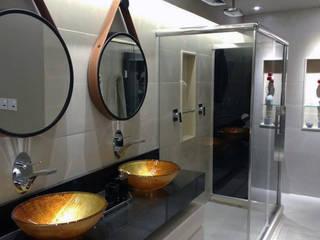 Reforma de Apartamento e Interiores: Banheiros  por DHN arquitetura,Moderno