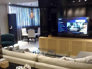 Reforma de Apartamento e Interiores: Salas de estar  por DHN arquitetura,Moderno